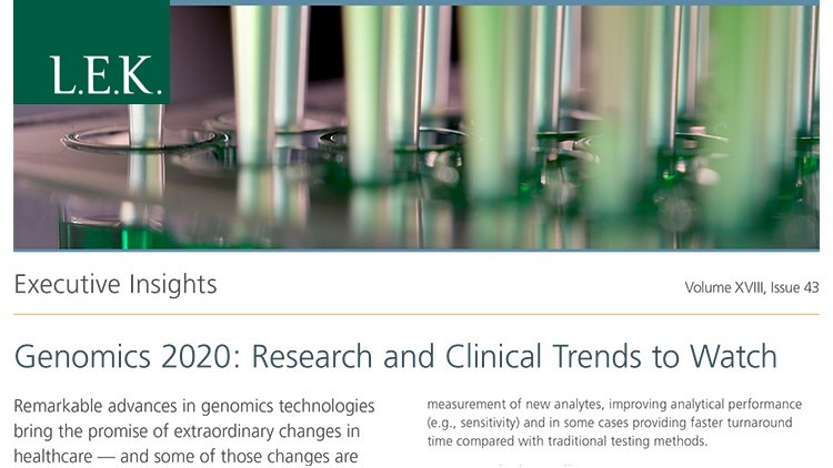 Genomics 2020: Research and Clinical Trends to Watch