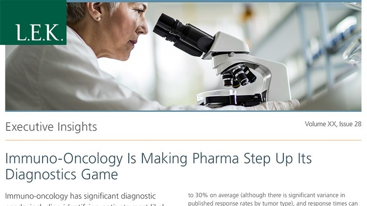 Immuno-Oncology Is Making Pharma Step Up Its Diagnostics Game