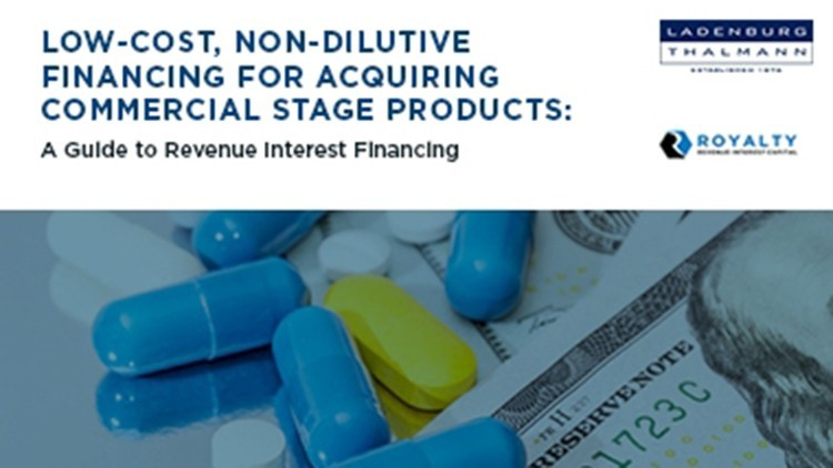 Low-cost, Non-dilutive Financing for Acquiring Commercial Stage Products
